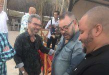 REy Mohamed Vi con Michel Mirabal