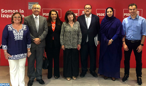 Photo de Visita de una delegación marroquí de la USFP a Madrid