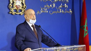 """Photo de Aguila Salah elogia los """"grandes esfuerzos"""" de Marruecos para lograr una solución política en Libia"""
