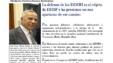 Photo de La defensa de los DDHH es el objeto de DHSF y las presiones no nos apartaran de ese camino Juan C. Moraga D.  Sub director Derechos Humanos Sin Fronteras