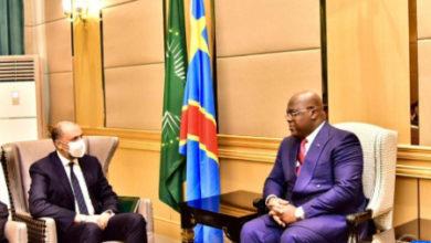 Photo de Jazouli entrega en Kinshasa un mensaje de SM el Rey al presidente Tshisekedi
